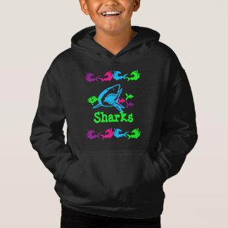 Sharks Design Hoodie