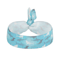 sharks! elastic hair tie