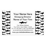 Sharks - Elegant Black and White Shark Pattern Double-Sided Standard Business Cards (Pack Of 100)