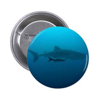 Sharks Fish Ocean Water Tropical Beach Peace Love Button