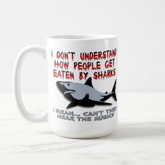 Sharks - Hear The Music Funny Mug