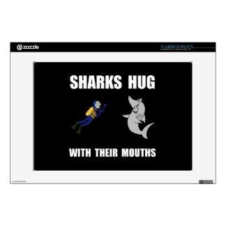 "Sharks Hug Decal For 13"" Laptop"