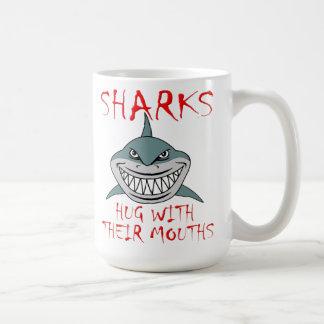 Sharks Hug with Mouths Funny Mug