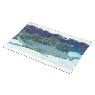 Sharks in Coral Reef Placemat Cloth Placemat