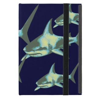 sharks in deep blue iPad mini cases