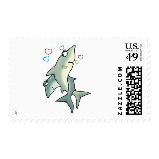 sharks in love postage