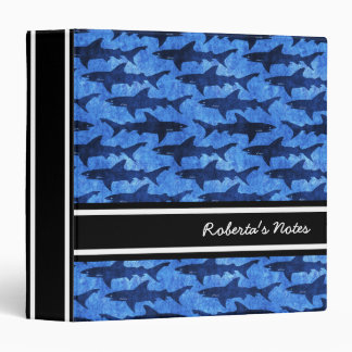 Sharks in the Deep Blue Sea 3 Ring Binder
