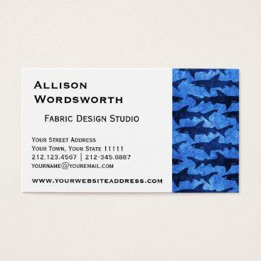 Beach Themed Sharks in the Deep Blue Sea Business Card