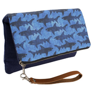 Sharks in the Deep Blue Sea Clutch