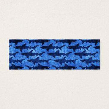 Beach Themed Sharks in the Deep Blue Sea Mini Business Card