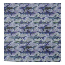 Sharks in the Deep Blue Sea Pattern Duvet Cover