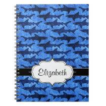 Sharks in the Deep Blue Sea Spiral Notebook