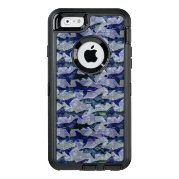 Beach Themed Sharks in the Deep Sea OtterBox Defender iPhone Case
