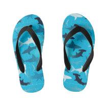 sharks! kid's flip flops
