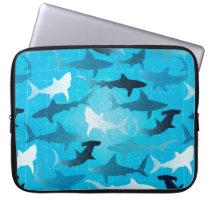 sharks! laptop sleeve