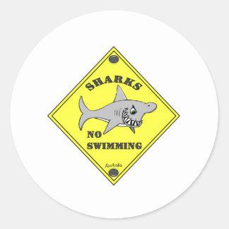 Sharks No Swimming! Sticker