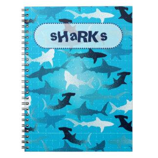 sharks! notebook