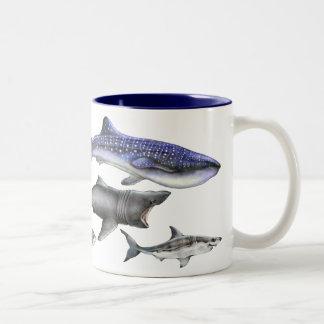 Sharks of the World Two-Tone Coffee Mug