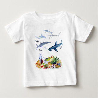 Sharks on the reef baby T-Shirt
