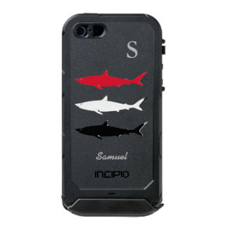sharks personalized waterproof case for iPhone SE/5/5s