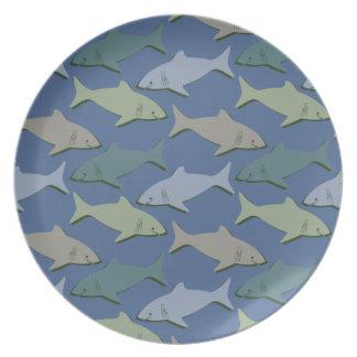 SHARKS! PLATES