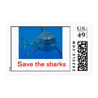 sharks postage stamps