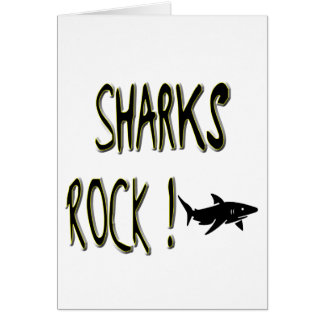 Sharks Rock! Greeting Card