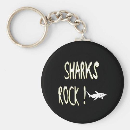 Sharks Rock! Keychain