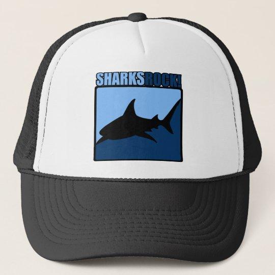 Sharks Rock! Trucker Hat