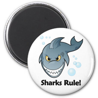 Sharks Rule! 2 Inch Round Magnet