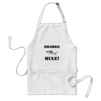 SHARKS Rule! Adult Apron