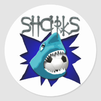 Sharks (Soccer Team) Classic Round Sticker