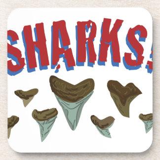 Sharks Teeth Beverage Coaster