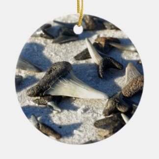 Sharks Teeth from Jax Beach Ceramic Ornament