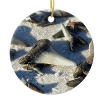 Sharks Teeth from Jax Beach Ceramic Ornament