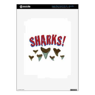 Sharks Teeth iPad 3 Decal
