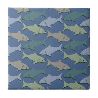 SHARKS! CERAMIC TILE