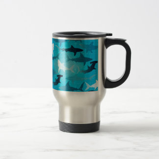 sharks! travel mug