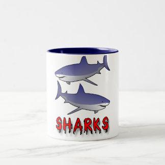 sharks Two-Tone coffee mug