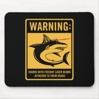 sharks with frickin laser beams attached mouse pad