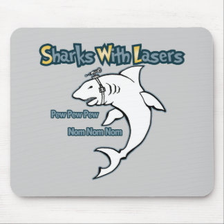 Sharks With Lasers Mouse Pad