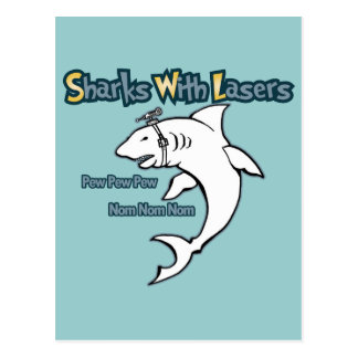 Sharks With Lasers Postcard