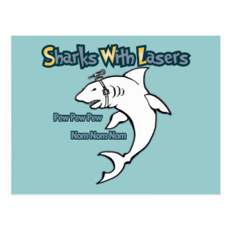 Sharks With Lasers Post Card