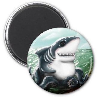 Sharktopus 2 Inch Round Magnet