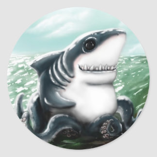 Sharktopus Classic Round Sticker