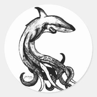 Sharktopus Classic Round Sticker