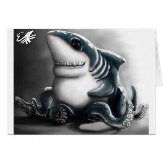 SHARKTOPUS GREETING CARD