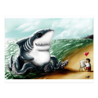 Sharktopus Love Postcard