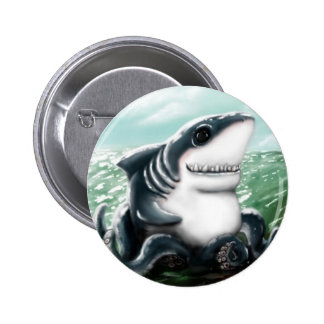 Sharktopus Pinback Button