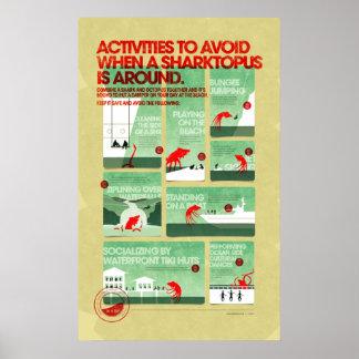 Sharktopus Safety Poster